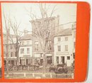 VERY EARLY STEREOVIEW - HAMPTON FREE PRESS NEWSPAPER OFFICE