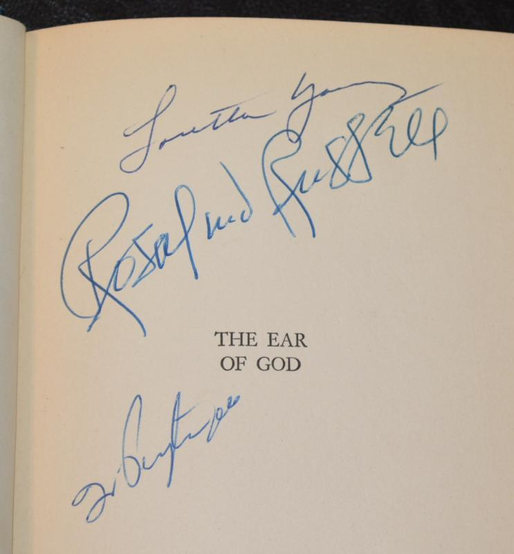 EAR OF GOD BOOK - AUTOGRAPHED BY 23 MOVIE STARS!