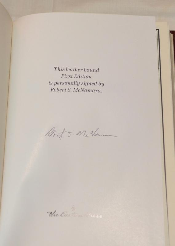 IN RETROSPECT BY ROBERT MCNAMARA - AUTOGRAPHED COPY!