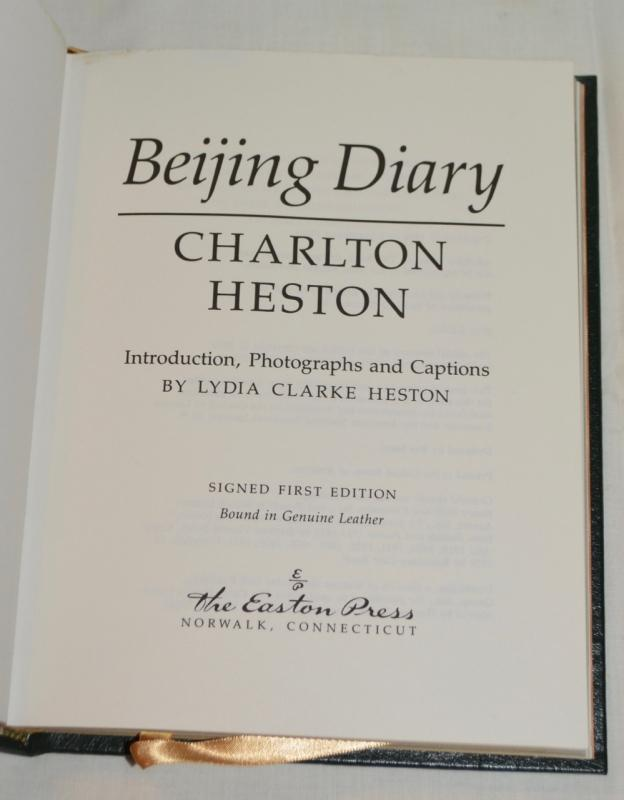 BEIJING DIARY BY CHARLTON HESTON  - AUTOGRAPHED COPY!