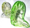 BEAUTIFUL ART GLASS CORNUCOPIA