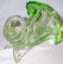 BEAUTIFUL ART GLASS CORNUCOPIA