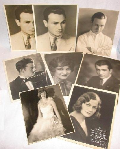 LOT OF EIGHT PHOTOS - 1930s MOVIE ACTORS