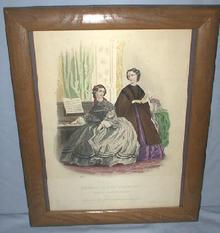 BEAUTIFUL FRENCH HAND COLORED ETCHING