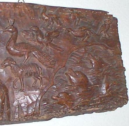 LATE 18th CENTURY CARVED RELIGIOUS PLAQUE