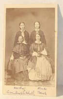 GREAT CDV OF FOUR CIVIL WAR ERA LADIES