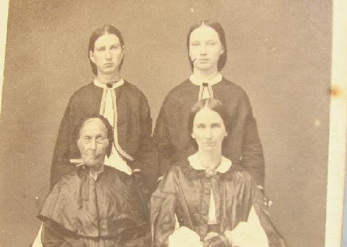 GREAT CDV OF FOUR CIVIL WAR ERA LADIES