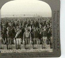 WORLD WAR I STEREOVIEW - ANSWER TO THE KAISER