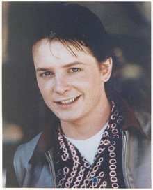 MICHAEL J. FOX - EARLY COLOR PHOTO