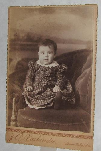 A VERY HAPPY BABY - VICTORIAN CABINET PHOTO