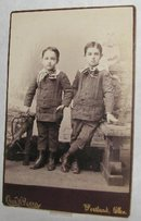 TWINS BOYS? - VICTORIAN CABINET PHOTO