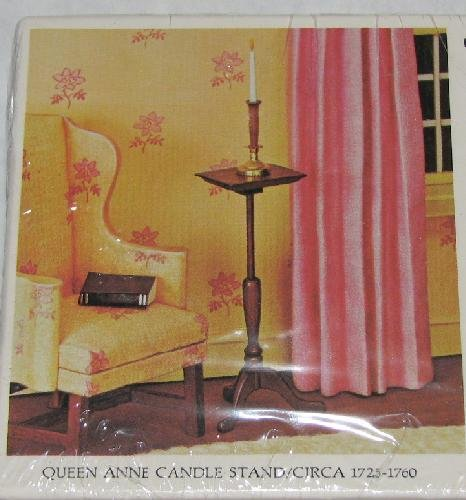 QUEEN ANNE CANDLE STAND BY HOUSE OF MINIATURES