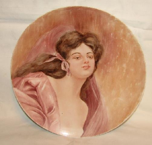 HAND PAINTED LIMOGE PORTRAIT PLATE