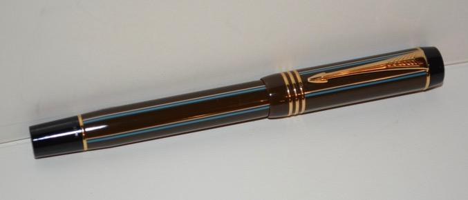 Parker - Duofold Chocolate Pinstripe Rollerball Pen