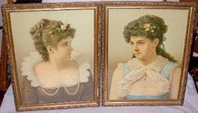 PAIR OF BEAUTIFUL VICTORIAN CHROMOLITHOGRAPHS