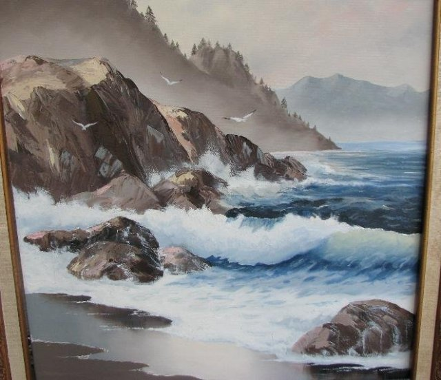 OIL ON CANVAS - SEASCAPE