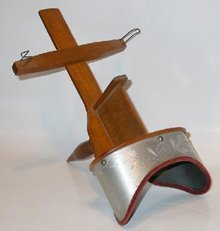 LOVELY ETCHED METAL HOOD STEREOSCOPE