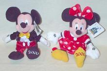 LIMITED EDITION - MICKEY AND MINNIE BEANIE SET