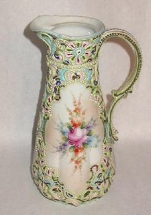 OUTSTANDING ENAMELED VICTORIAN CHOCOLATE POT