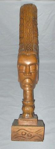 HAND CARVED AFRICAN BUST