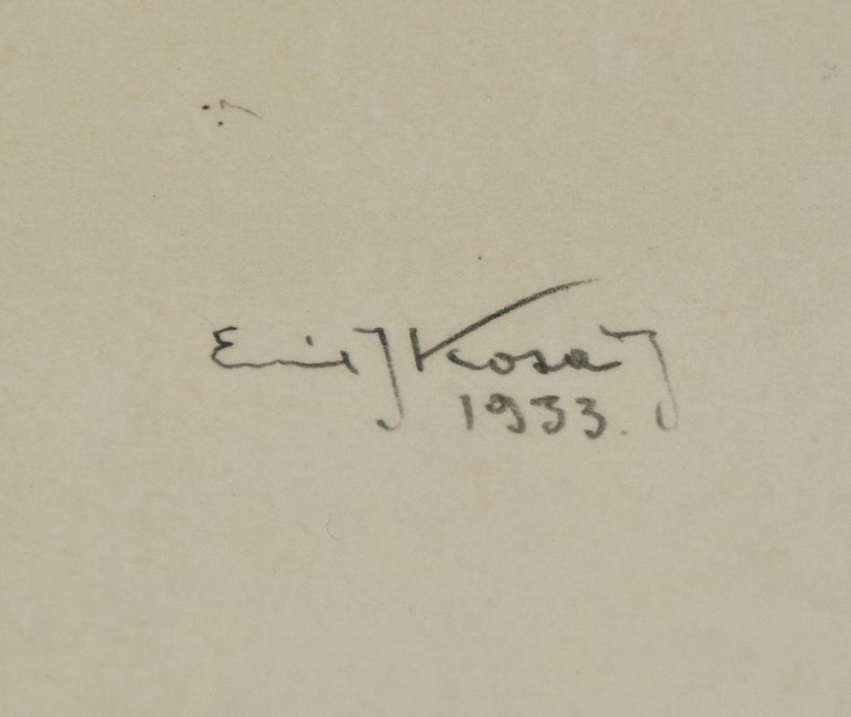 ORIGINAL EMIL KOSA JR. GRAPHITE (pencil) SKETCH
