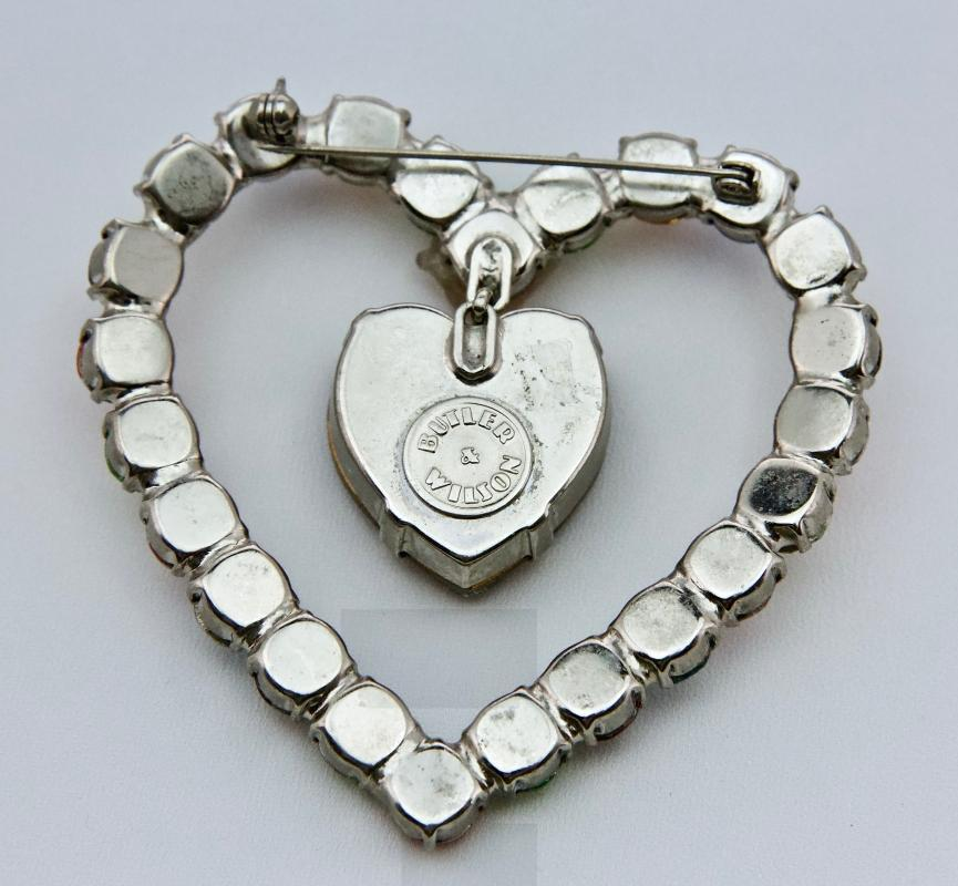 Outstanding Heart Brooch - by Butler & Wilson