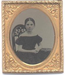 TINTYPE OF BEAUTIFUL YOUNG GIRL