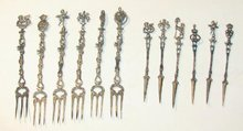 VERY ORNATE - 800 SILVER FORK AND PICK SET