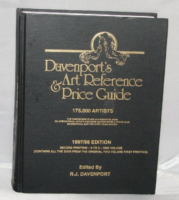 DAVENPORT'S ART REFERENCE AND PRICE GUIDE