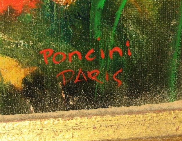 ORIGINAL PONCINI OIL ON CANVAS