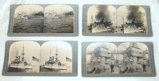 WORLD WAR I STEREOVIEWS - SET OF FOUR