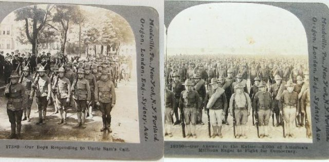 WORLD WAR I STEREOVIEWS - SET OF FOUR
