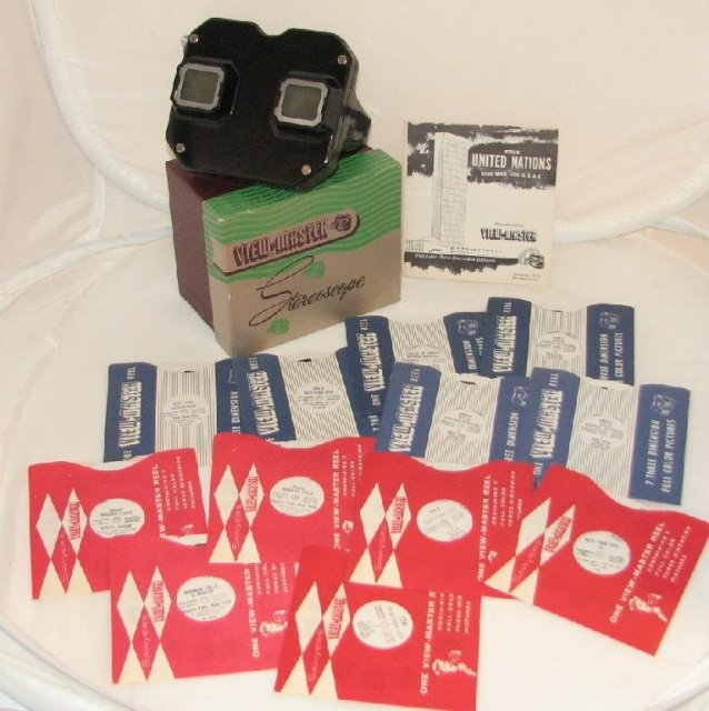 1950s VIEWMASTER WITH NEW YORK REELS