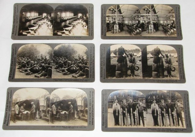 GROUP OF SIX WORLD WAR I STEREOVIEWS