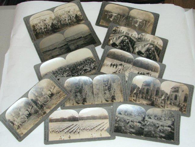 GROUP OF ELEVEN WORLD WAR I STEREOVIEWS