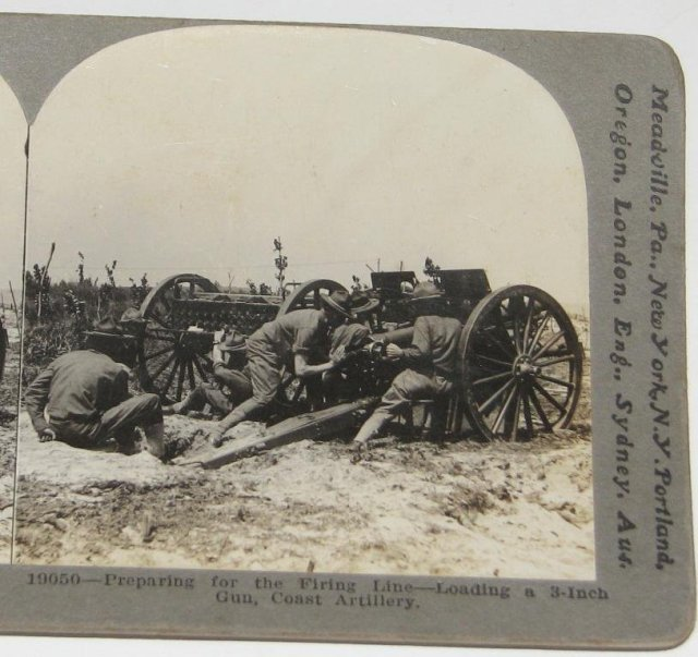 GROUP OF FOUR WORLD WAR I STEREOVIEWS