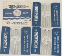 SET OF FIVE VIEWMASTER REELS FEATURING WASHINGTON DC