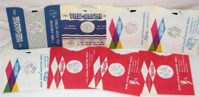 SET OF EIGHT VIEWMASTER REELS FEATURING CALIFORNIA & NEVADA