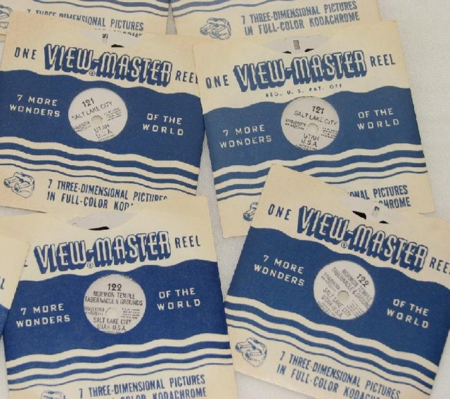 SET OF NINE VIEWMASTER REELS FEATURING UTAH