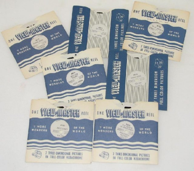 SET OF SEVEN VIEWMASTER REELS FEATURING INTERNATIONAL LOCATIONS