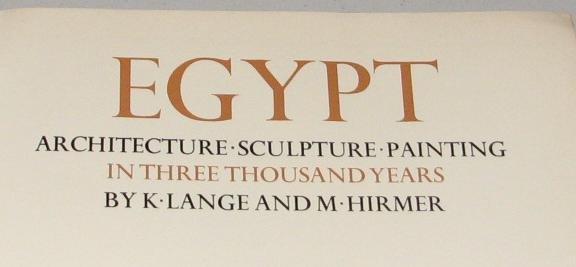 EGYPT - ARCHITECTURE - SCULPTURE - PAINTING