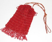 BEAUTIFUL RED BEADED PURSE