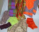 A GROUP OF EIGHT VINTAGE SCARVES