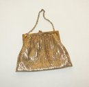 WHITING AND DAVIS GOLD MESH DRESS PURSE