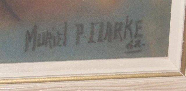 PASTEL ON PAPER BY MURIEL P. CLARKE