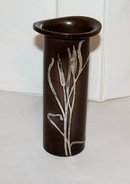 STUNNING HEINTZ VASE - STERLING ON BRONZE