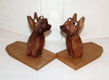 SCOTTY DOG - WOOD CUT - BOOKENDS