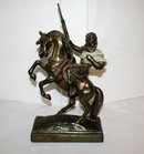 PAUL HERZEL BRONZE STATUE -