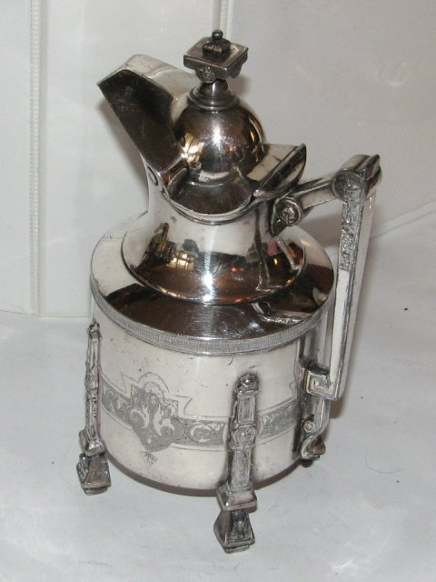 VICTORIAN ERA SILVERPLATE TEAPOT