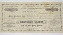 KENTUCKY QUARTZ - STOCK CERTIFICATE